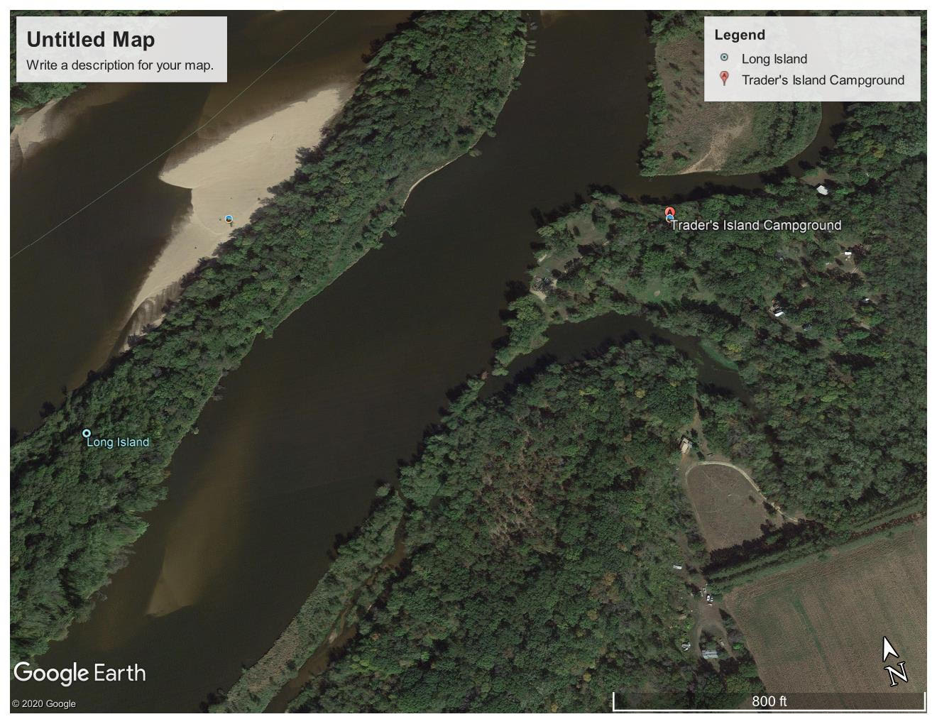 Trader's Campground - aerial view